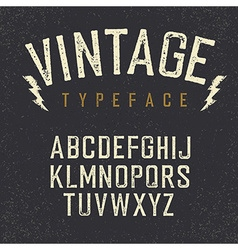 Vintage retro typeface Stamped alphabet white vector image vector image