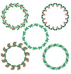 wreath frames vector image