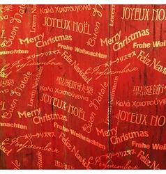 xmas words pattern vector image vector image