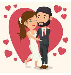 bride and groom design vector image vector image