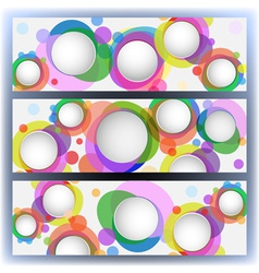 colorful banners with circles vector image