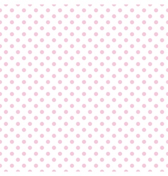 Tile pattern with pink polka dots on white vector image vector image