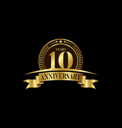10th years anniversary logo template design vector