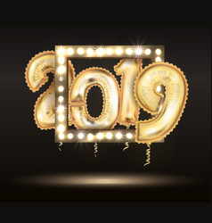 2018 new year count symbol balloon greeting vector image