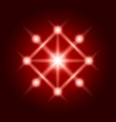 abstract shine sign spiritual sacred geometry vector image