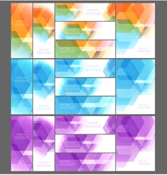 Abstract template design vector image