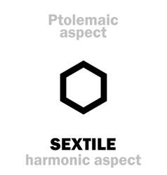 Astrology sextile aspect vector