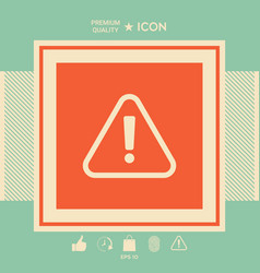 attention icon symbol vector image