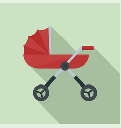 baby pram carriage icon flat style vector image