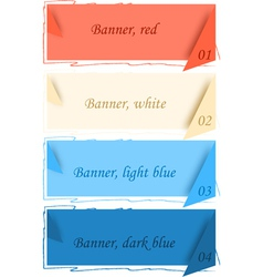 Banners with corners vector