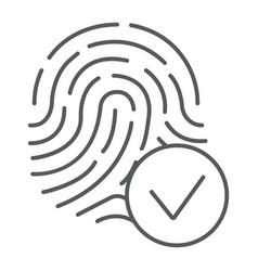 Biometrix thin line icon scanner and biometric vector