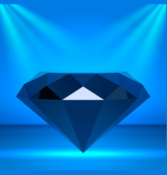 Black diamond as chic stage podium with lighting vector