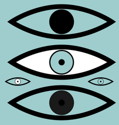 black different simple eyes vector image