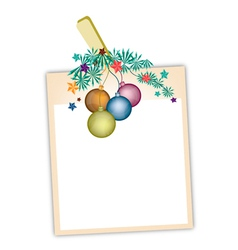 Blank Photos with Christmas Ball vector