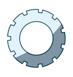 Blue shading silhouette of pinion model three vector