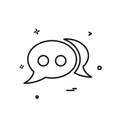 bubble chat comment forum sms speech icon design vector image
