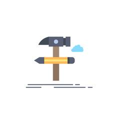 build design develop tool tools flat color icon vector image