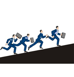 Businessmen running up vector