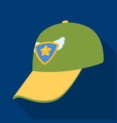 cap football fanfans single icon in flat style vector image