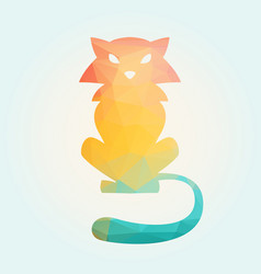 cat of triangles vector image