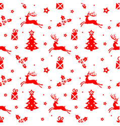 Christmas pattern with deer vector