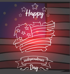 Collection stock of independence day style card vector