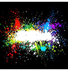 Color paint splashes gradient background vector