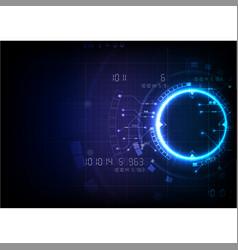 deep blue futuristic game technology vector image