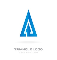 Design element with arrow Triangular Business logo vector