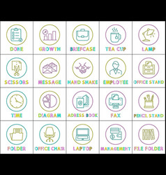 done checklist and scissors vector image