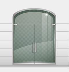 double doors of glass vector image