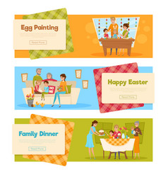 Easter holiday banners set vector
