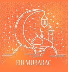 Eid mubarak card vector