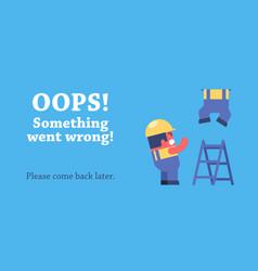 Error page design vector