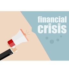 Financial crisis Megaphone Flat design vector