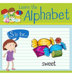 Flashcard letter S is for sweet vector