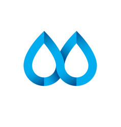 Fresh mineral water design emblem clear water vector