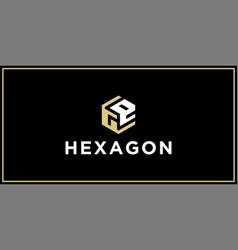 Ge hexagon logo design inspiration vector
