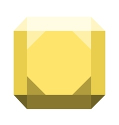 Gemstone diamond colorful stone isolated on white vector