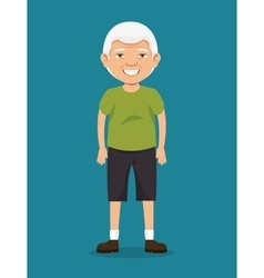 Grandfather with sport clothing vector