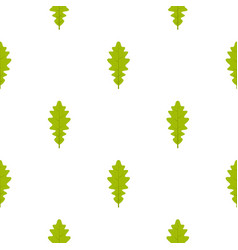 green oak leaf pattern seamless vector image