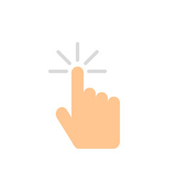 hand button click computer in flat style vector image