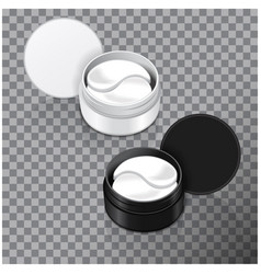 hydrogel patches for the eyes vector image