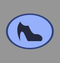 Icon in flat design fashion footwear women boot vector