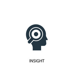 Insight icon simple element vector