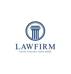 Law firm pillar logo template vector