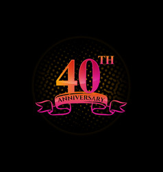 Logo 40th anniversary logo with a circle and vector