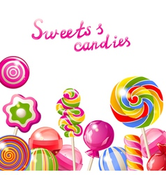 lollipop background vector image