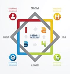 Modern Design infographic templatecan vector image