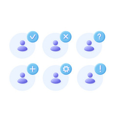 Network group icon set social community business vector
